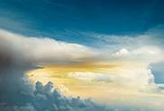 atmospheric clouds above landscape