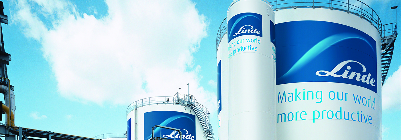 Linde atmospheric gas storage tanks