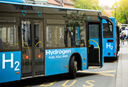Bus powered by hydrogen