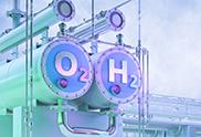 Hydrogen pipeline illustration