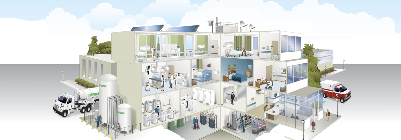 Medical Gas Supply Equipment For The Healthcare Industry Praxair