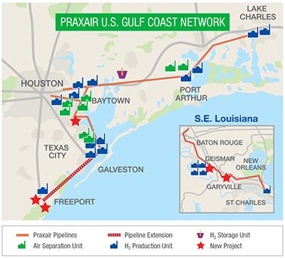 Praxair U.S. Gulf Coast Network