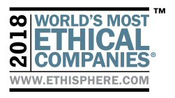 2018 World's Most Ethical Companies Logo by the Ethisphere Institute
