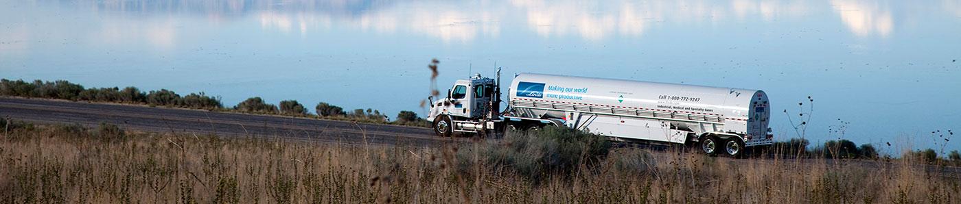 Linde gases bulk trailer