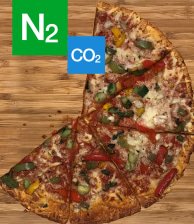 N2 CO2 Pizza freezing and chilling